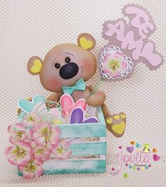 Kids Crafts, Foam Crafts, Baby Shower Pasta, Bear Theme, Diy Baby Gifts, Cute Stickers, Cute Art, Minnie Mouse, Cards