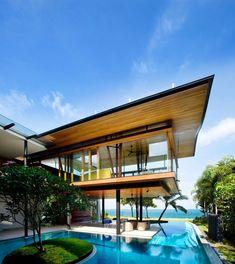 Environmentally Friendly Modern Tropical House In Singapore | iDesignArch | Interior Design, Architecture & Interior Decorating