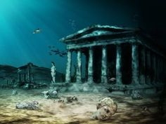 The Lost City of Atlantis is one of the oldest and most pervasive mysteries of the world. Since ancient times, people have been trying to locate Atlantis, which is believed to have submerged after an earthquake or tsunami. Mysteries Of The World, Greatest Mysteries, Ancient Mysteries, Atlantis, Under The Water, Under The Sea, Mystery Of History, The Secret History, Sunken City