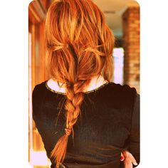 red head braid ❤ liked on Polyvore featuring accessories, hair accessories, hair, hairstyles and beauty
