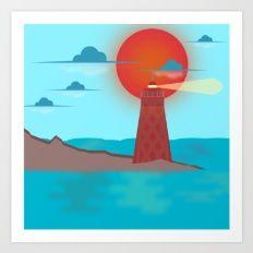Art Print featuring Lighthouse by Zensunni