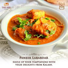 If you were of the notion that vegetarians lack option, you are mistaken. Kalash presents you with the royal Paneer Lababdar. Now vegans have a reason to rejoice. #Kalash #Paneer #PaneerLababdar #Food #Restaurant #Delicious #HHIHotels #Kolkata