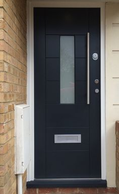 Cerberus security doors are always made with love and passion, and absolute precision every single time. We are ever grateful for the trust smart Londoners have shown in Cerberus security products. House Front, Modern Door, House Exterior, Modern Garage Doors, Keyless Door Lock, Front Door, Custom Door, Modern Garage, Doors