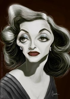 bette davis caricature | bette davis