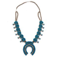 Turquoise Squash Blossom Necklace at Maverick Western Wear