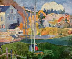 "Paul Gauguin,  ""Le moulin, Pont-Aven""                              …"