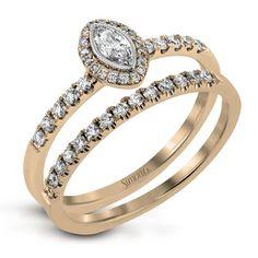 18k White & Rose Gold Ring - LR1102-WR - Simon G.