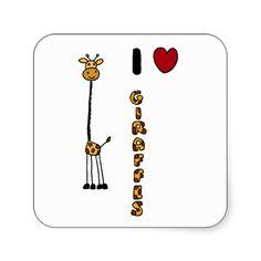 Funny I Love Giraffes