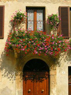 Pienza doorway, Tuscany, Italy