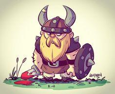 Viking drawing for tonight's cool down. Drawn in Manga Studio. #Viking #warrior…