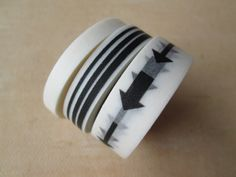 Washi Tape  Three Rolls  Solid White Stripes and by HazalsBazaar, $6.00