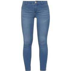 Dorothy Perkins Petite Blue 'Frankie' Vintage Jeans ($39) ❤ liked on Polyvore featuring jeans, bottoms, pants, blue, petite, dorothy perkins jeans, dorothy perkins, vintage jeans, blue jeans and petite jeans