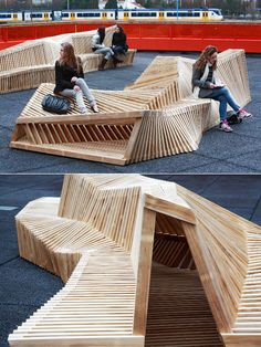 Dutch high school rooftop lounge seating
