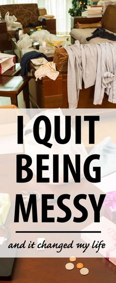 I quit my bad habit of being messy and now I LIKE being at home. It doesn't stress me out anymore and I can relax. Is it time for you to give up on messy? Household Cleaning Tips, Cleaning Hacks, Cleaning Crew, Home Organization Hacks, Organizing Tips, Organising, Household Organization, Lyon, Up House