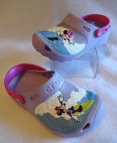 200a760639987 Crocs Youth Kids GIrls Size 2 Minnie Mouse Makin Waves Clogs Purple Disney  Shoes  clogs  waves  purple  disney  shoes  makin  mouse  kids  youth   girls ...