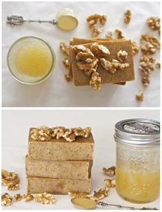#Honey ia a delicius #ingredient. Try this idea: honey walnut milk #soap.