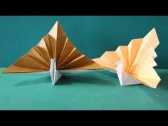 """「折り羽鶴」折り紙 """"Wings crane""""Origami for Thanksgiving - YouTube"""