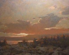"""Monhegan Sunset"" oil - Roger Dale Brown"
