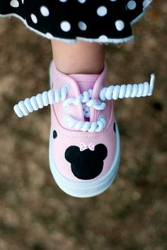 Minnie Mouse shoes -  Sparkled Pink  Minnie Mouse Inspired Sneakers for girls, baby and toddler shoes. $25.00, via Etsy.