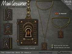 Maxi Gossamer Necklace - Book of Angels - #Secondlife