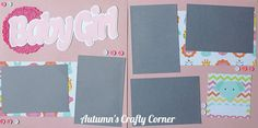 Baby Girl - Scrapbook Page Kit