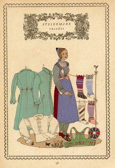 Tirol 58 Austria, Folk Costume, Costumes, Regional, Switzerland, Vintage World Maps, Germany, Culture, Traditional
