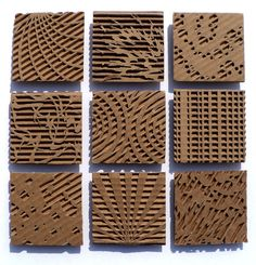 Cardboard relief sculpture focused on pattern and texture. Middle or high school art project.