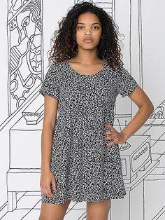 Nathalie Du Pasquier Printed Rayon Babydoll Dress | American Apparel