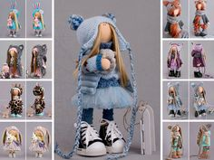 Handmade doll Collectable doll Tilda doll Interior doll Art doll blue doll Soft doll Cloth doll Fabric doll Winter doll Rag doll by Alena R __________________________________________________________________________________________ Hello, dear visitors! This is handmade soft doll