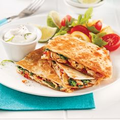 Quesadillas au thon et épinards - 5 ingredients 15 minutes Smoking Meat, Croissant, Herbalife, Tuna, Sandwiches, Great Recipes, Spinach, Tacos, Food Porn