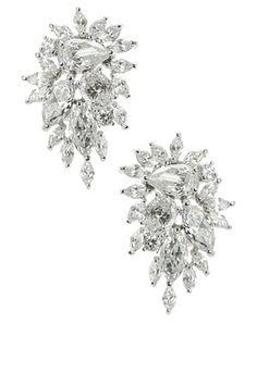 Kenneth Jay Lane Marlena Cluster CZ Earrings