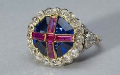 The Coronation Ring That Didn't Fit - Rundell, Bridge & Rundell, the goldsmiths who made this ring of sapphire, rubies, and gold, screwed up royally in 1838. -   Apparently, the jewelers misunderstood the wording of the rubric given to them for the coronation and made this ring for Queen Victoria's little finger, not the ring finger