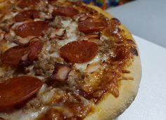 Pizza barbacoa picante para #Mycook http://www.mycook.es/cocina/receta/pizza-barbacoa-picante