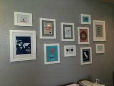 Project Nursery - Travel Themed Gallery Wall in this Travel Themed Nursery