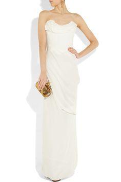 Sell designer wedding dress: Vivienne Westwood wedding dress off-white silk-georgette gown worn once