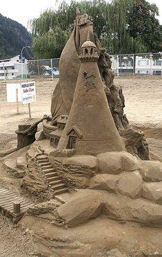 Lighthouse.  Amazing sand sculpture