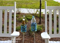 Turn a tin can into an Outdoor Drink Holder  (@ Positively Splendid)