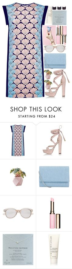 """""""Untitled #230"""" by monicanne ❤ liked on Polyvore featuring Markus Lupfer, River Island, John Lewis, Witchery, Clarins, Dogeared, Chantecaille, Maison Margiela, contestentry and laceupsandals"""