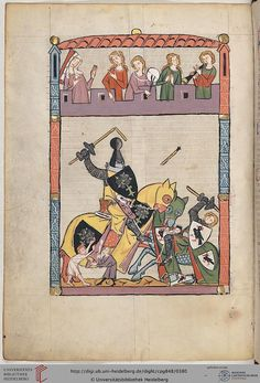 Cod. Pal. germ. 848  Große Heidelberger Liederhandschrift (Codex Manesse)  Zürich, ca. 1300 bis ca. 1340 Folio:  192v
