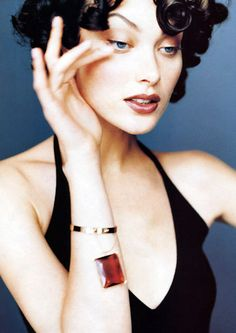 "Shalom Harlow in ""Eight Degrees of Evening"" for VOGUE."
