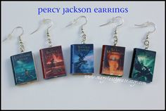Percy Jackson Earrings Set NEW by maryfaithpeace.deviantart.com oh my word! just about died when i saw this!