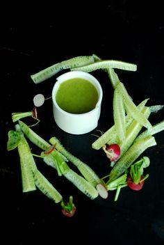 pittige komkommer - radijssoep