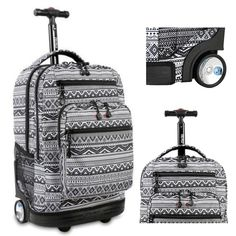 Wheeled Rolling Backpack Carry On Luggage Roller Bag Tote Trolley Book-Bag New  #Bookbag