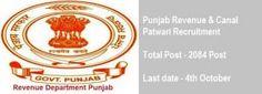 Punjab Patwari Recruitment 2016, 2084 Revenue Canal Patwari Vacancy Online…