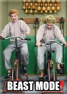 Fitness Humor - Funny Exercise Shirt - Ideas of Funny Exercise Shirt - - Fitness Humor Beast Mode Lucy Lucille Ball exercise bike bicycle Fitness Humor, Fitness Motivation, Fitness Quotes, Health Fitness, Morning Motivation, Funny Fitness Memes, Lifting Motivation, Funny Gym, Fitness Plan