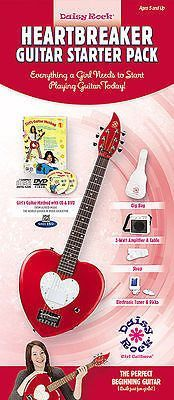 Daisy Rock Girl Guitars: Heartbreaker Guitar Starter Pack Red Hot Red Electric