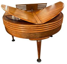 Wurlitzer Butterfly Baby Grand Piano Art Deco Streamline 1937 Piano Art, Antique French Furniture, Baby Grand Pianos, Butterfly Baby, Art Deco Lighting, Art Deco Furniture, Art Deco Period, Architectural Features, French Art