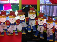 Paper Plate Scarecrow Craft and writing activity from Welcome to Room 36!