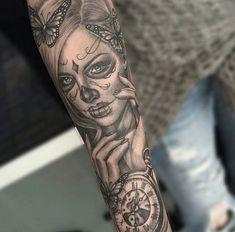 Fotos de Tatuagens de Catrinas Mexicanas | Tatuagens - Ideias