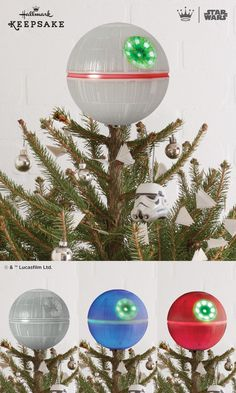 Hallmark Keepsake Ornaments | Death Star™ Tree Topper. In honor of May the 4th, here's a preview of the 2016 Death Star™ Tree Topper, one of Hallmark's coolest Star Wars™ Christmas offerings in the 2016 Hallmark Keepsake Ornament collection. Top your tree with awesome this Christmas. Available October 2016.